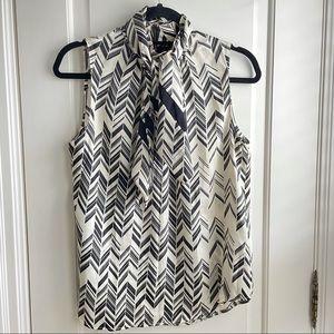 Judith + Charles 100% silk sleeveless blouse